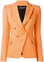 Balmain double breasted blazer - women - Cotton/Viscose - 38