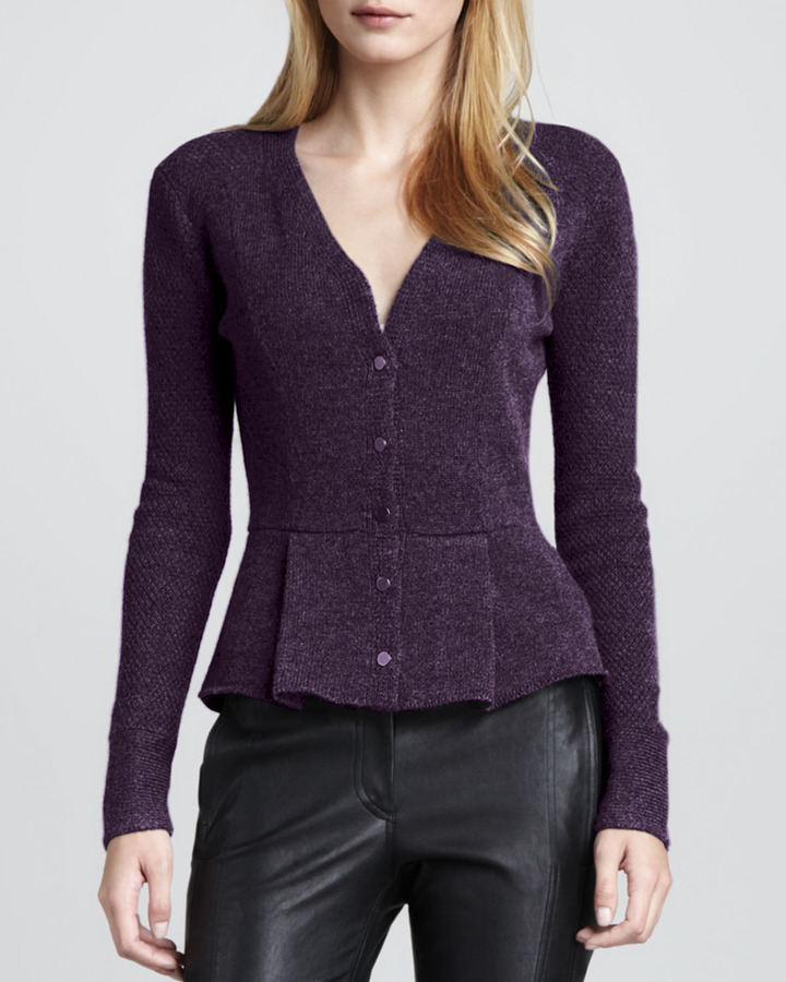 Robert Rodriguez Exclusive Knit Peplum Cardigan