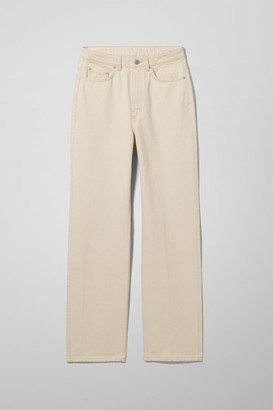 Weekday Rowe Extra High Straight Jeans - Beige