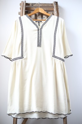 Scotch & Soda Antique White Embroidered Dress - S