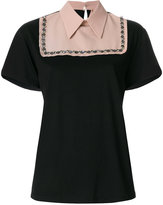 No.21 stylized collar top