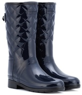Hunter Refined Gloss Quilt Short rubber boots