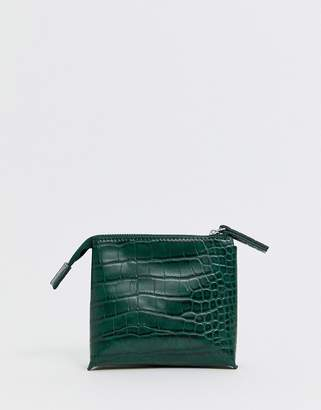 French Connection Lea croc zip ladies' wallet-Green
