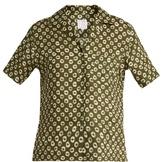 Stella Jean Discendente circle-print linen shirt