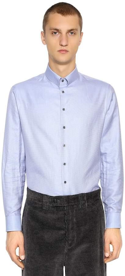Giorgio Armani Cotton Shirt W/ Small Collar