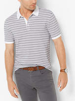Michael Kors Striped Jacquard Polo Shirt