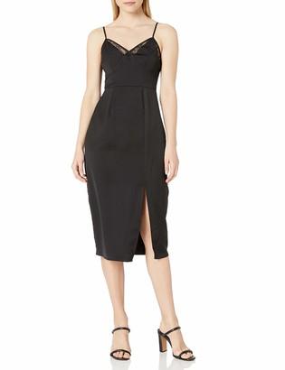 BCBGeneration Women's Lace Cami Midi Slip Dress