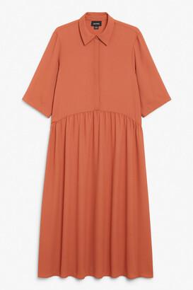 Monki Midi dress with collar