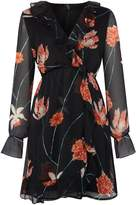 Vero Moda Long sleeves v neck wrap short floral dress