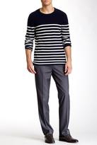 Louis Raphael Solid Herringbone Modern Fit Pant