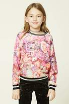Forever 21 FOREVER 21+ Girls Floral Print Top (Kids)