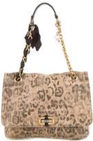Lanvin Leopard Print Leather Happy Bag