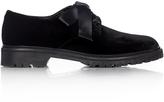 Saint Laurent Army lace-up velvet shoes