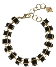 Christian Siriano New York Christian Siriano Gold Tone Stone Clasp Bracelet