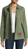 Dolce Vita Asher Embroidered Jacket, Olive
