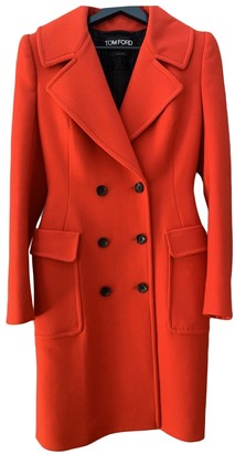 Tom Ford Red Wool Coats