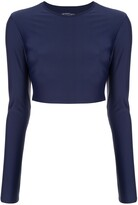 Lanston Sport Action Cropped L/SWith Thumbholes