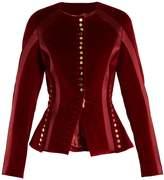Altuzarra Cavendish collarless stretch-cotton velvet jacket