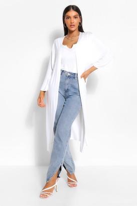 boohoo Basic Jersey Wide Sleeve Midi Kimono