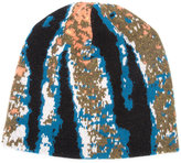 Baja East abstract tiger stripe beanie - unisex - Cashmere - One Size