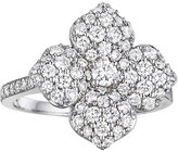 Penny Preville 18k White Gold Pavé Diamond Flower Ring, Size 6