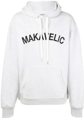 Makavelic Logo-Print Long-Sleeved Hoodie