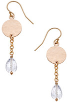 Heather Hawkins Tiny Hammered Coin Drop Earrings - Multiple Colors