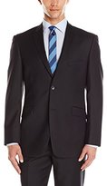 Adolfo Men's Black Wool and Cashmere Modern Fit Suit Jacket