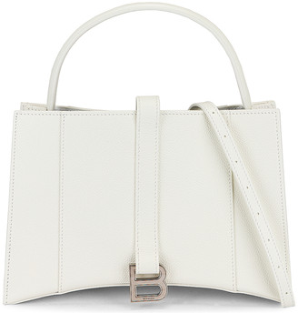 Balenciaga XS Hourglass Tote in White | FWRD