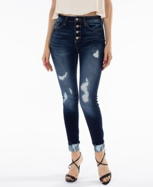 Thumbnail for your product : Kancan Gemma High Rise Ankle Skinny with Distress Jeans