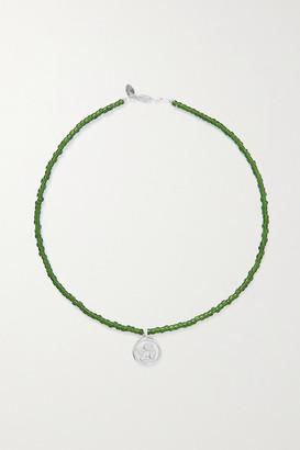 Santangelo - Cazh Silver And Bead Necklace - Green