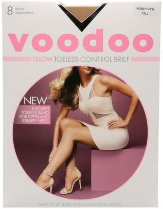 Voodoo Glow Toeless Control Brief Sheers 8 Denier 1 Pack Natural
