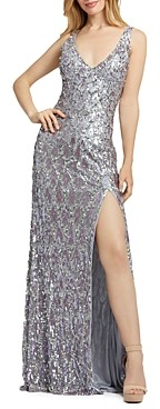 Mac Duggal Sequined Evening Gown