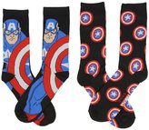 Marvel Captain America Men's Casual Crew Socks 2 Pack