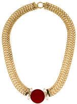 Tagliamonte Glass Intaglio & Pearl Collar Necklace