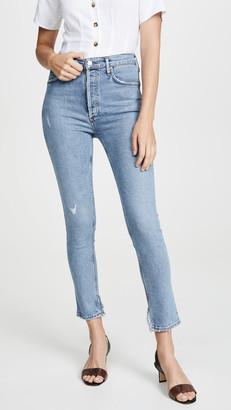 A Gold E Agolde Nico High Rise Slim Jeans