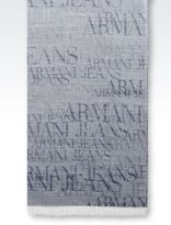 Armani Jeans Scarf In Wool And Modal