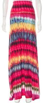 Torn By Ronny Kobo Abstract Printed Maxi Skirt