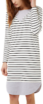 Jaeger Jersey Breton Stripe Dress, Ivory/Black