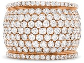 Effy Jewelry Effy Final Call 18K Rose Gold Wide Band Diamond Ring, 3.96 TCW