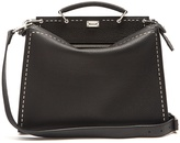 Fendi Metal stitch leather briefcase