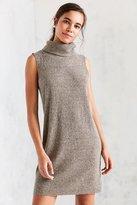 Silence & Noise Silence + Noise Sage Cozy Turtleneck Mini Dress