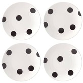 Kate Spade All In Good Taste Deco Dots Set Of 4 Tidbit Plates