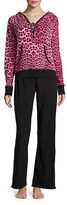Betsey Johnson Microfleece Hoodie and Pajama Pants Set