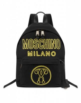 Moschino Neon Logo Backpack