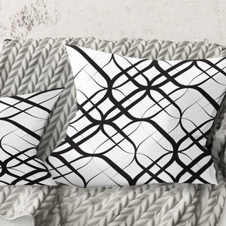 "East Urban Home Monochrome Pattern III Pillow Size: 18"" x 18"""
