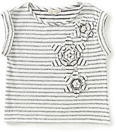 Copper Key Big Girls 7-16 Striped Floral-Applique Top