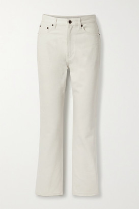 The Row Christie High-rise Straight-leg Jeans - Light gray