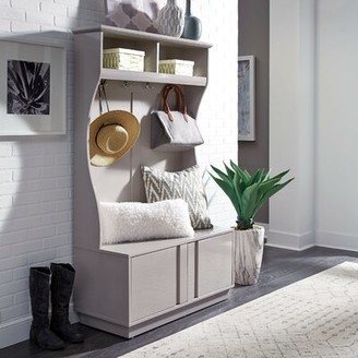 Latitude Run Emblyn Hall Tree with Bench and Shoe Storage
