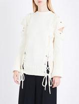 Alexander McQueen Lace-up wool jumper